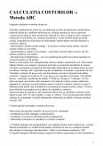 Calculatia Costurilor - Metoda Abc