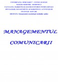 Imagine document Managementul comunicarii