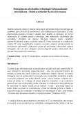 Imagine document Management-ul relatiilor tehnologiei informationale externalizate