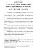 Imagine document Inlaturarea impedimentelor la casatoria ortodoxa potrivit legislatiei canonice