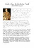 Elizabeth I And The Elizabethan Period