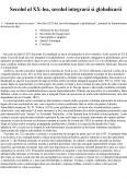 Imagine document Secolul XX - Globalizare si integrare
