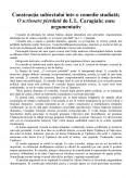Imagine document Constructia subiectului intr-o comedie studiata - O scrisoare pierduta de Ion Luca Caragiale