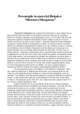 Personajele in Opera lui Bulgakov - Mestrul si Margareta