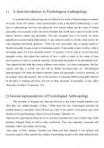 Imagine document Psychological Anthropology