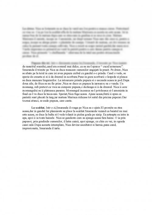 Referat: Amintiri Din Copilarie Rezumat Capitole (#339008) - Graduo