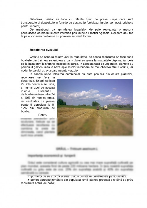 Referat: Graul si Orzul - Tehnologie de Cultura (#432772
